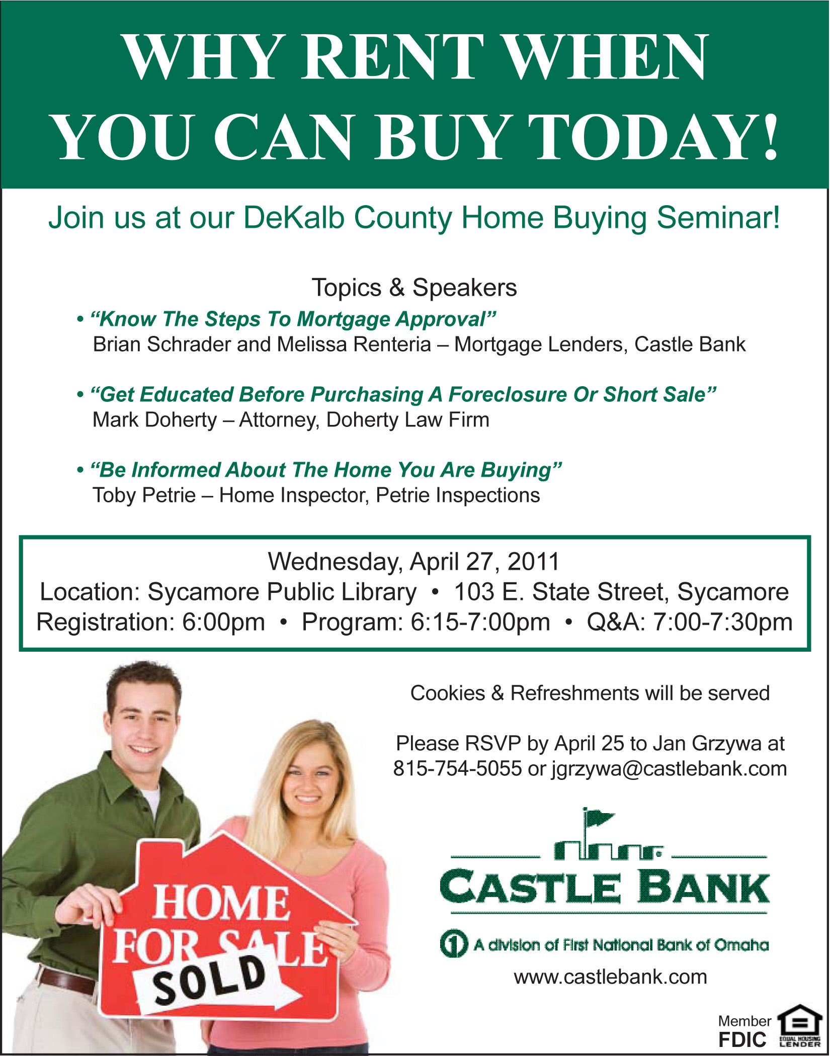 dekalb county home buying seminar wednesday april 27th